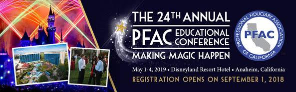 The 24th Annual PFAC Educational Conference provides the most comprehensive  fiduciary education available in California. Who says learning can t be  fun ! 5f51c5820